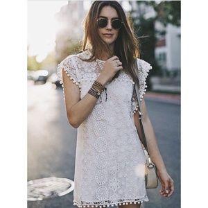 NWT Tularosa Elba Pom Pom Crochet Lace Dress XS